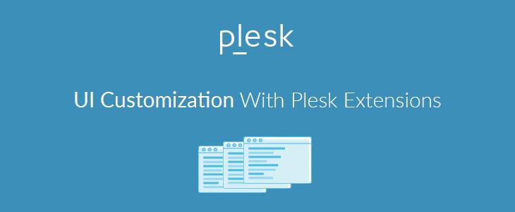 Customization of Plesk's UI