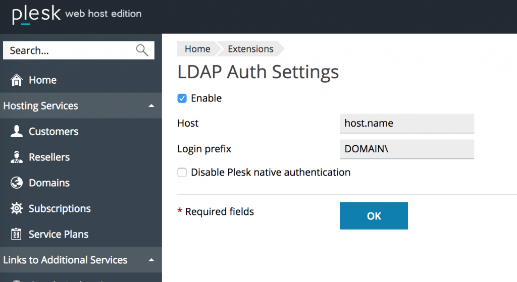 Authentication schemes - LDAP Auth Extension