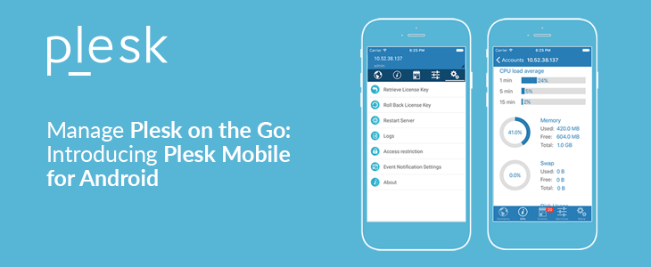 Plesk Mobile App For Android
