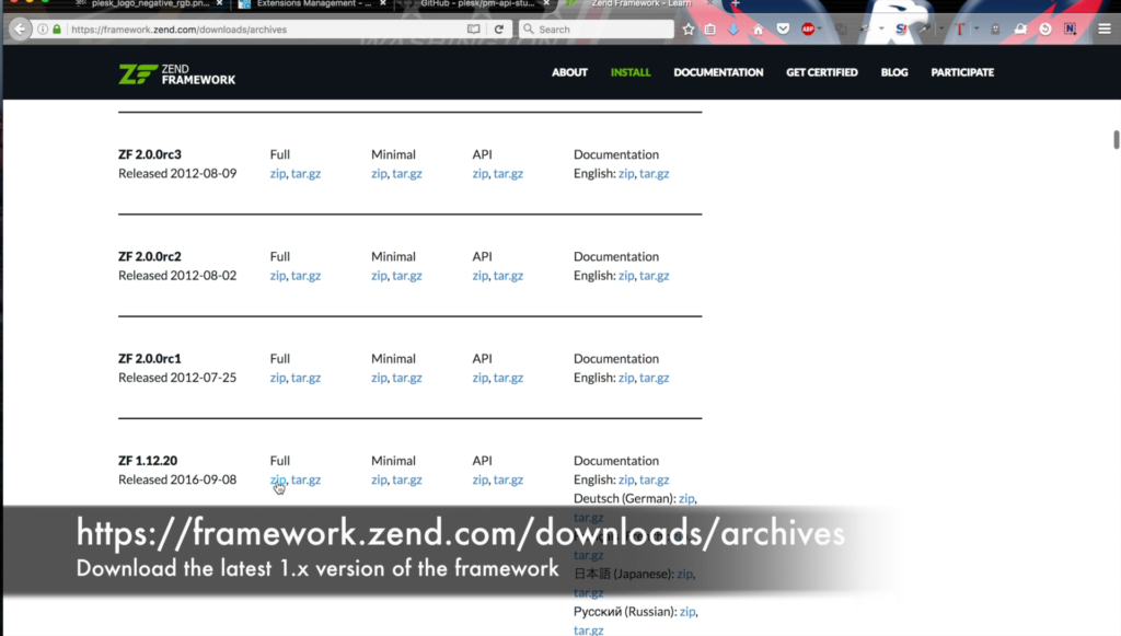 Plesk extension, ZendFramework inclusion