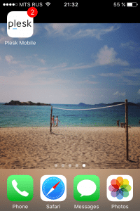 Plesk Mobile App on iPhone