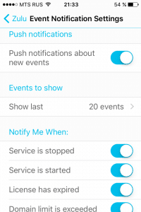Plesk Mobile - Event Notification