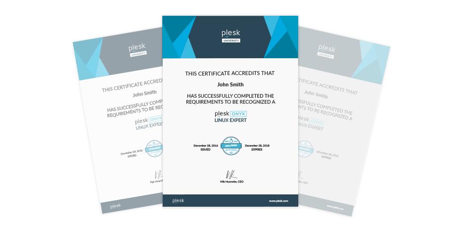 Plesk certification