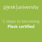 Use Plesk University and get free of charge Plesk certification
