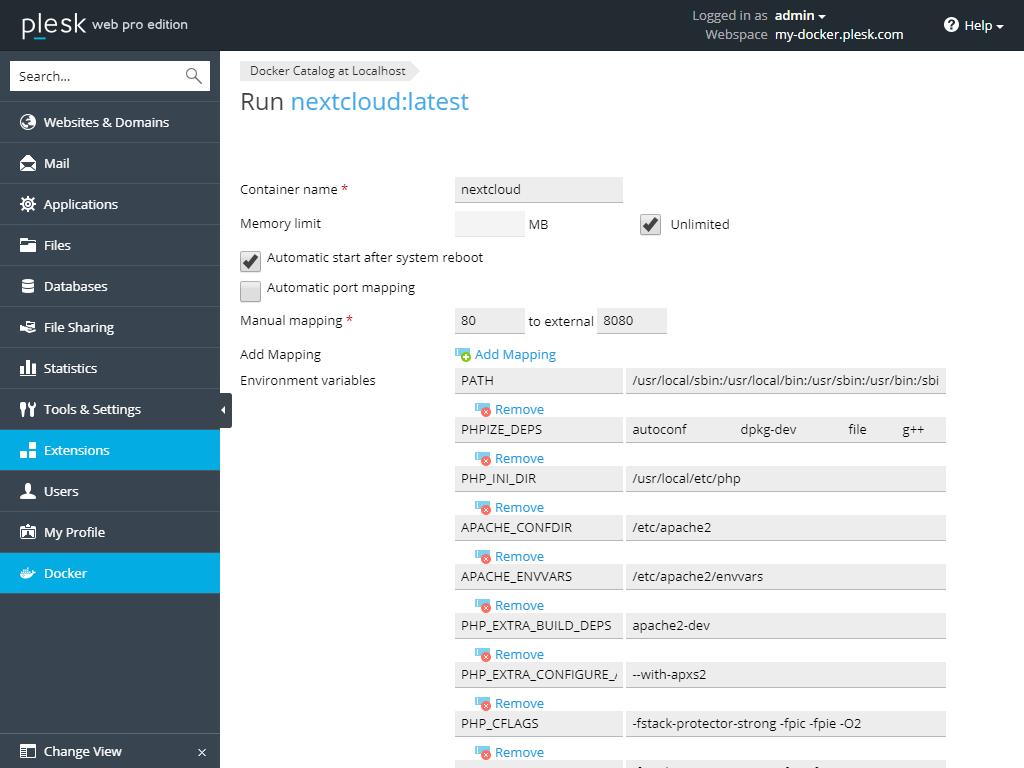 Plesk-Docker-Business-NextCloud-1