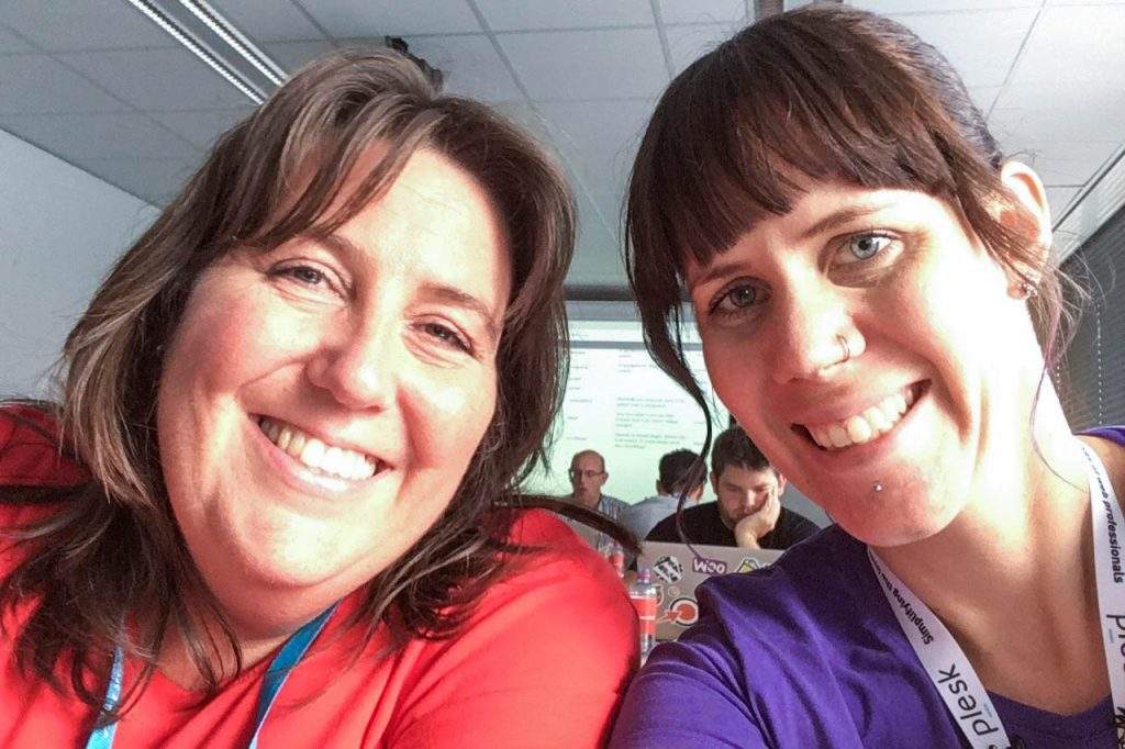 WordCamp Nijmegen, Contributor Day, Wendie Huis in 't Veld and Carole Olinger