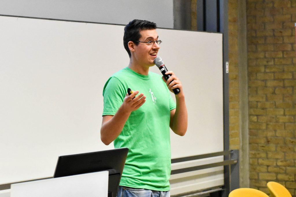 WordCamp Nijmegen, closing remarks, lead organizer Taco Verdonshot