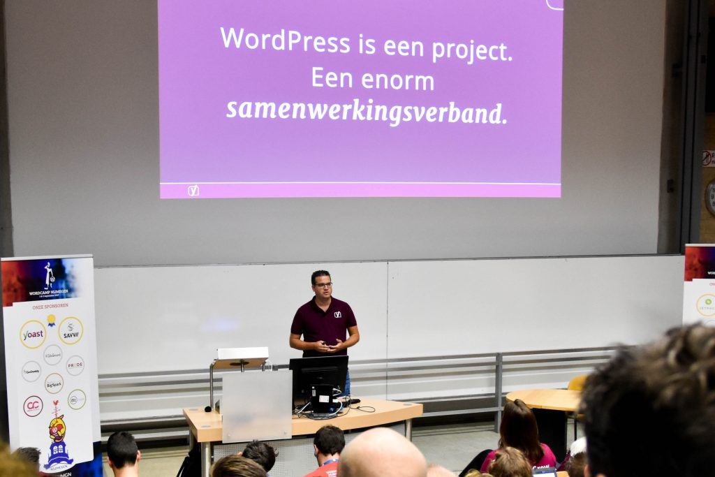 WordCamp Nijmegen, Joost de Valk, keynote speaker, CEO and founder of Yoast