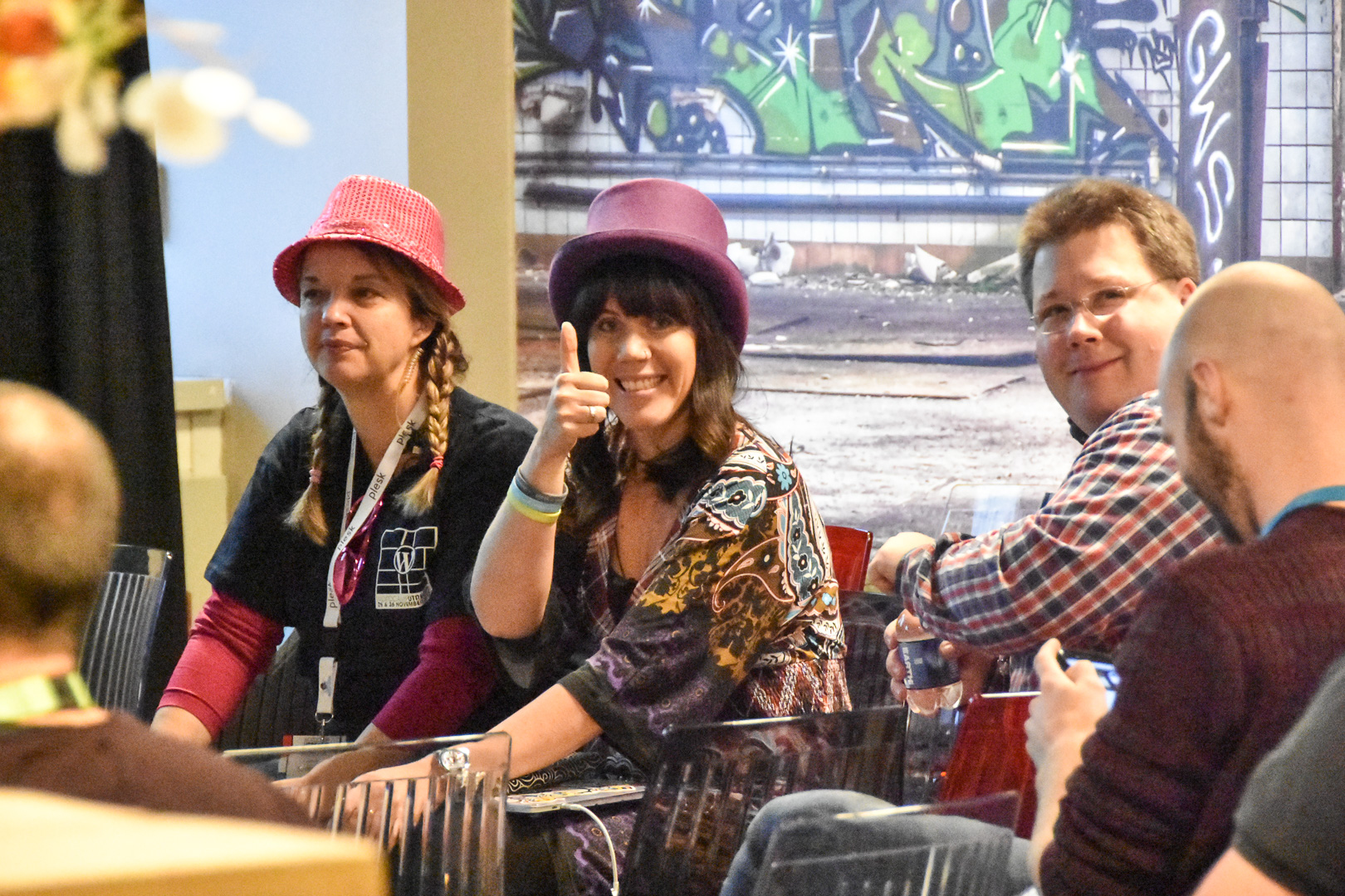 WordCamp Utrecht, Yvette Sonneveld, Carole Olinger and Thomas Brühl