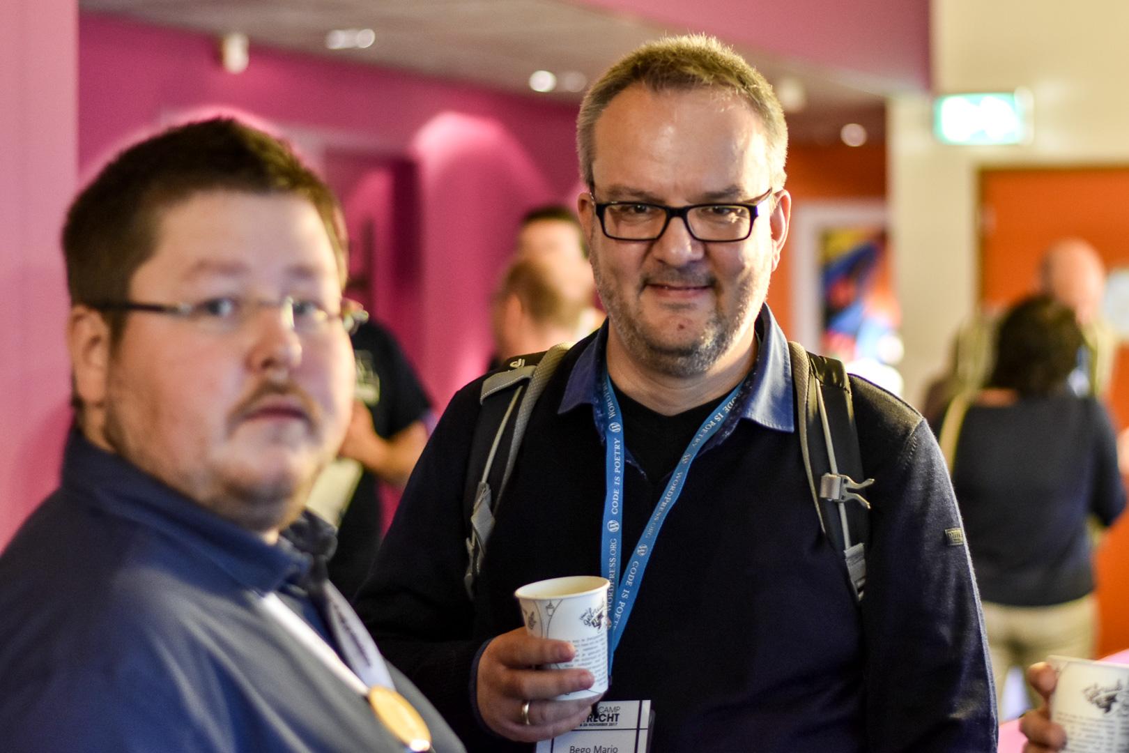 WordCamp Utrecht, Matthias Kurs and Bego Maria Garde