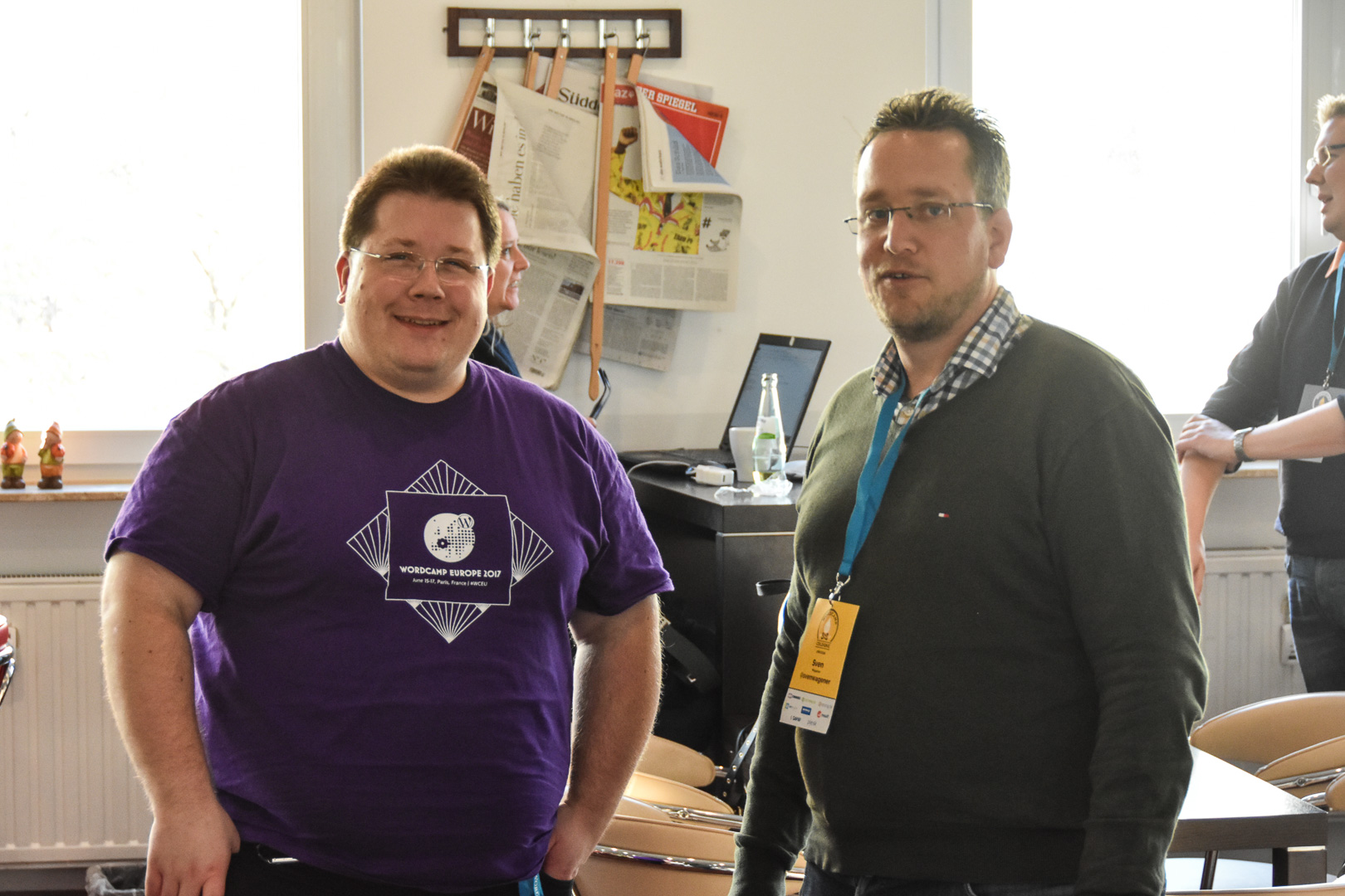 WordCamp Cologne, co-organizers Thomas Brühl and Sven Wagener