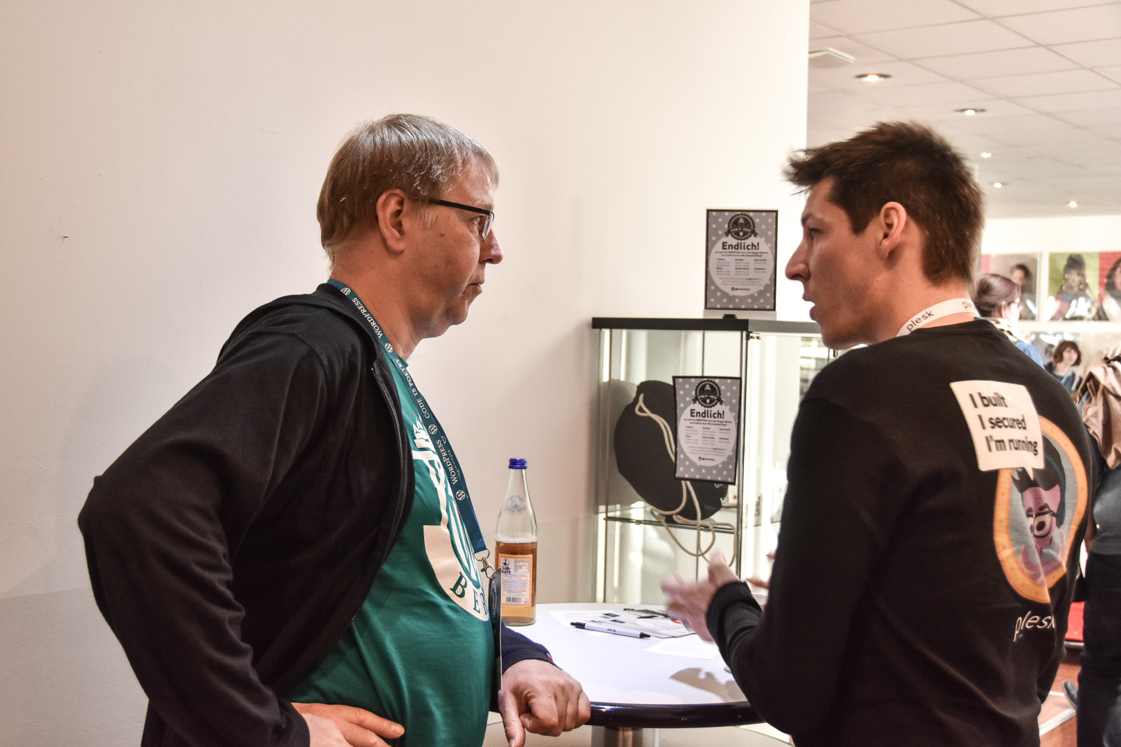 WordCamp Cologne, Gerd Zimmermann and Plesk's CTO Jan Löffler