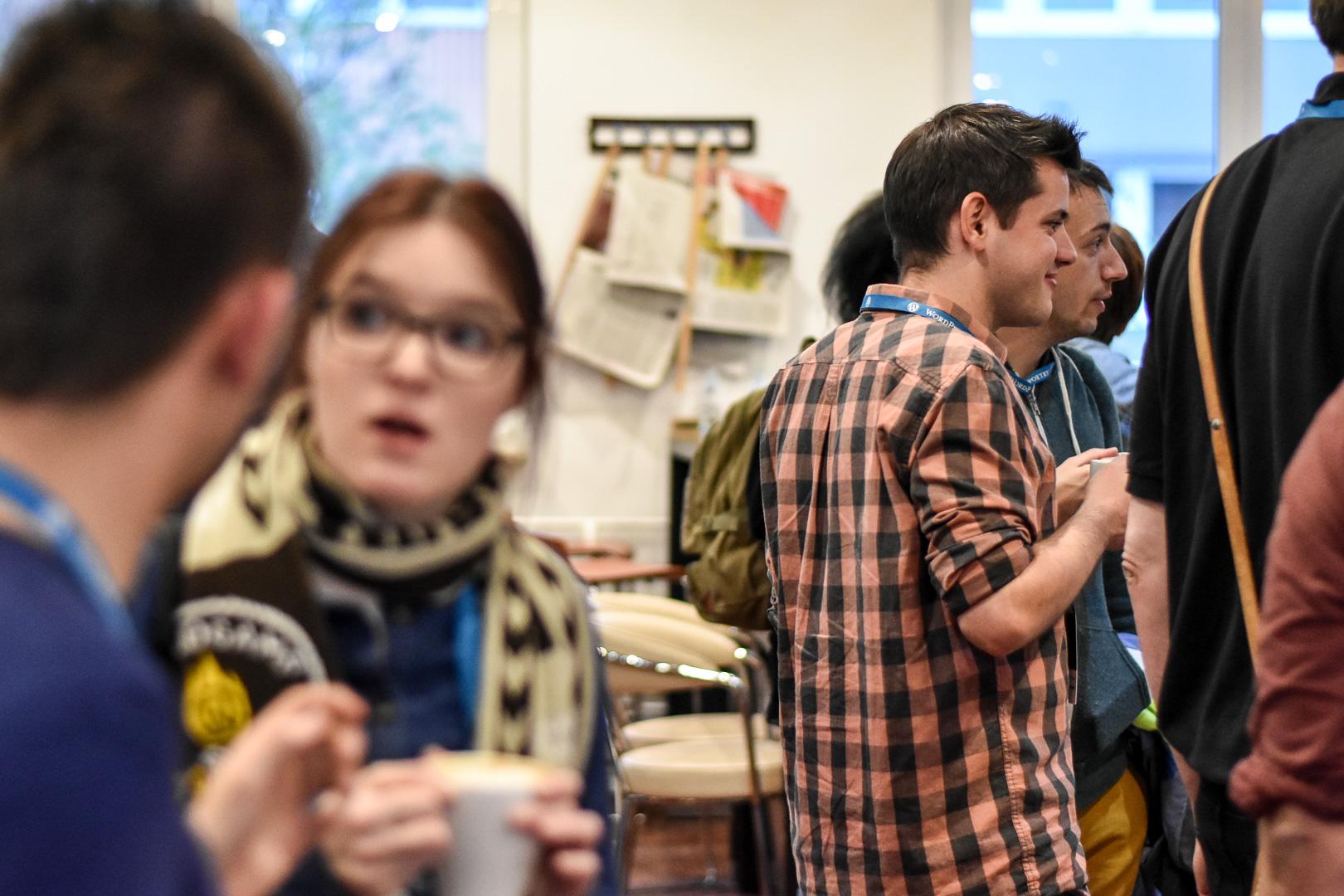 WordCamp Cologne, networking area, Dominik Schilling