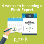 Plesk University - 4 weeks of learning campaign - blog post banner - read the campaign overview