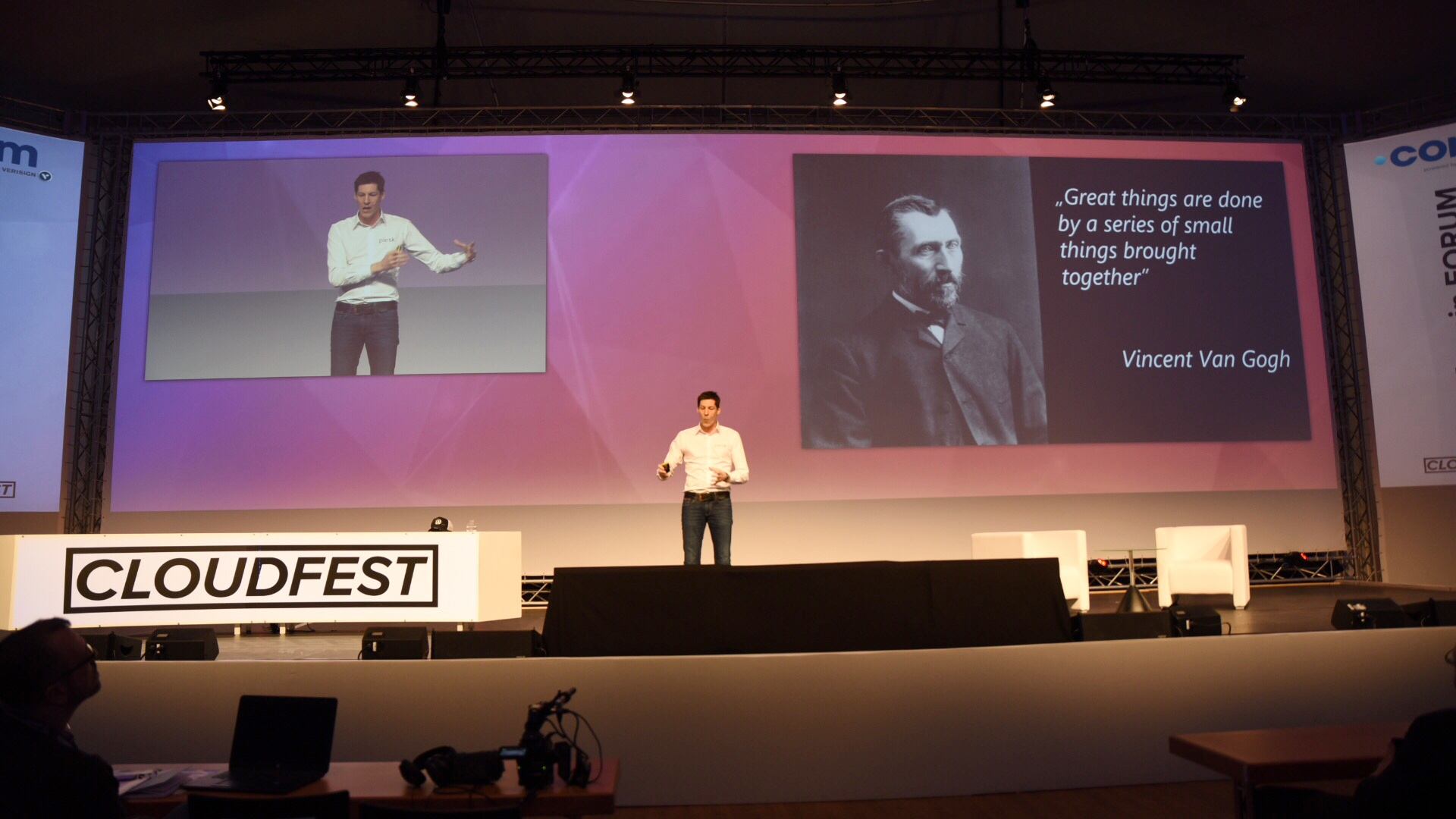 Plesk Cloudfest 2018 Talk by Jan Loeffler - Great things are done by a series of small things brought together - Van Gogh