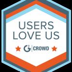 Plesk G2 Crowd Users Love Us Badge
