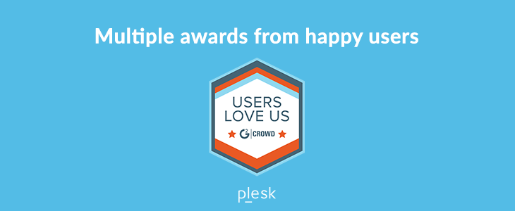 Plesk awarded by G2 Crowd