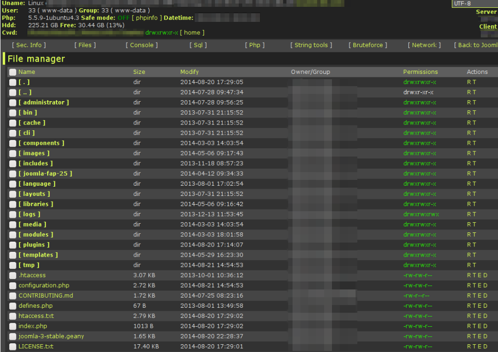 What\s a hacker's web shell? Screenshot 2 - Revisium and Plesk