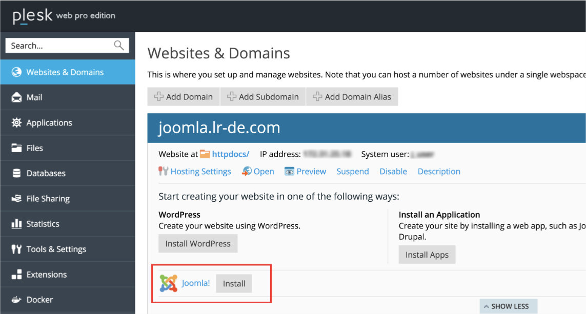 joomla-toolkit-screenshot-your-guide-to-your-first-joomla-installaton-using-the-plesk-joomla-toolkit