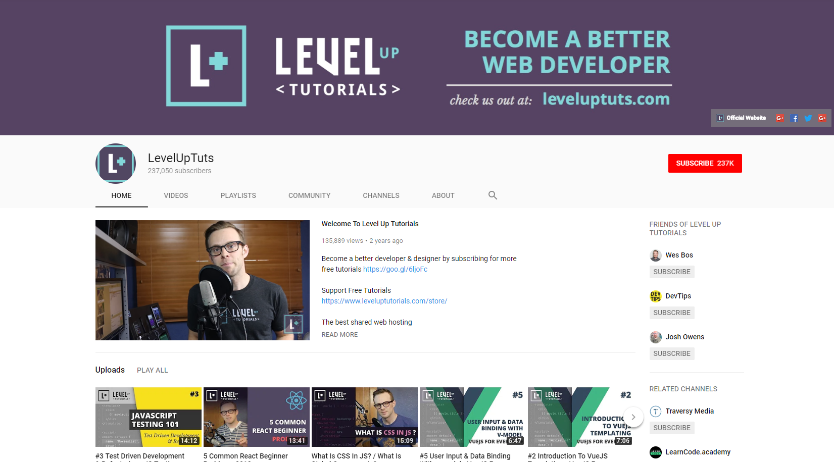 Best Web Development Youtube Channels: Level Up Tutorials