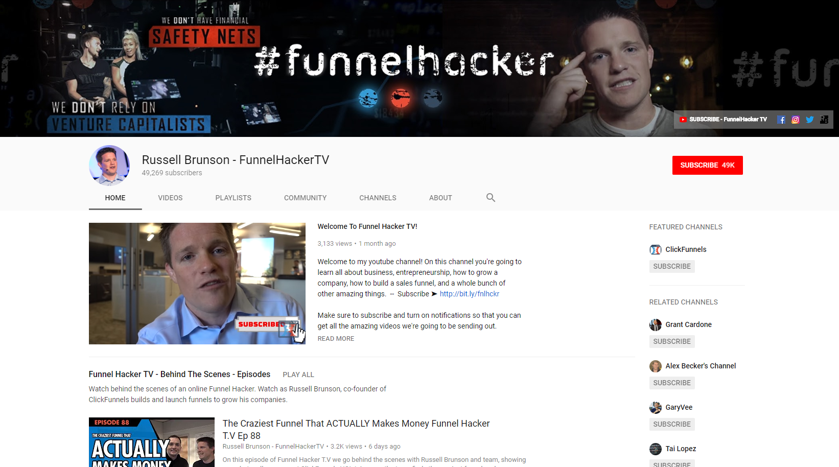 Russell Brunson - Best Business Youtube Channels