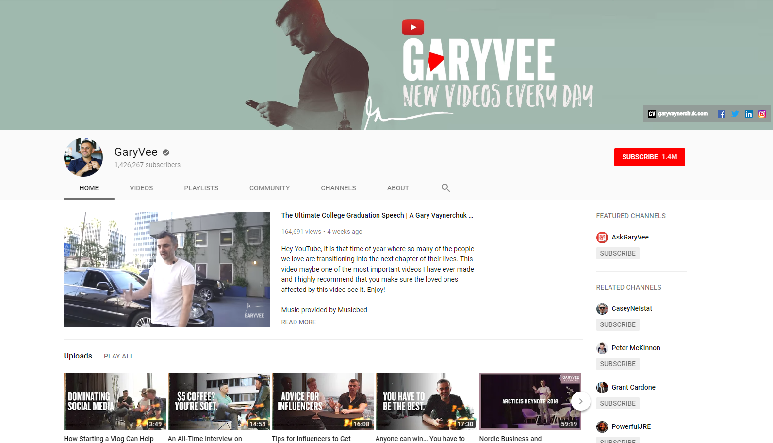 Gary Vee - Best Business Youtube Channels