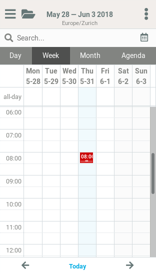 New Roundcube Responsive skin - Screenshot 1 - Email CalendarPlesk news