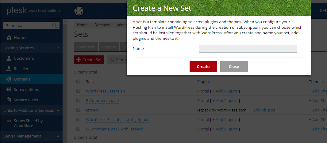Create a new plugin - managed wordpress hosting with Plesk