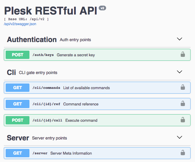new remote REST API on Plesk - Plesk RESTful API authentication, Cli, Server
