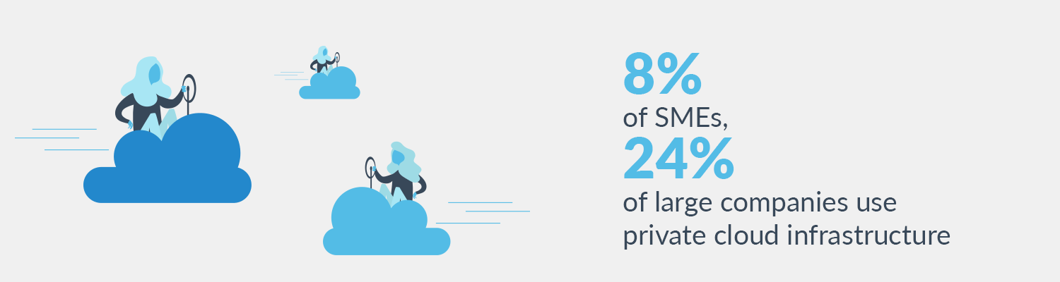 Stats for SMEs and large companies using private cloud - Plesk