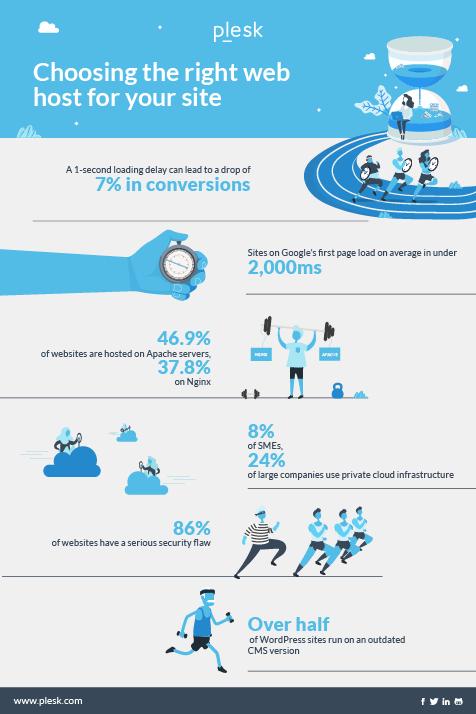 Web Hosting Platform - infographic by Plesk