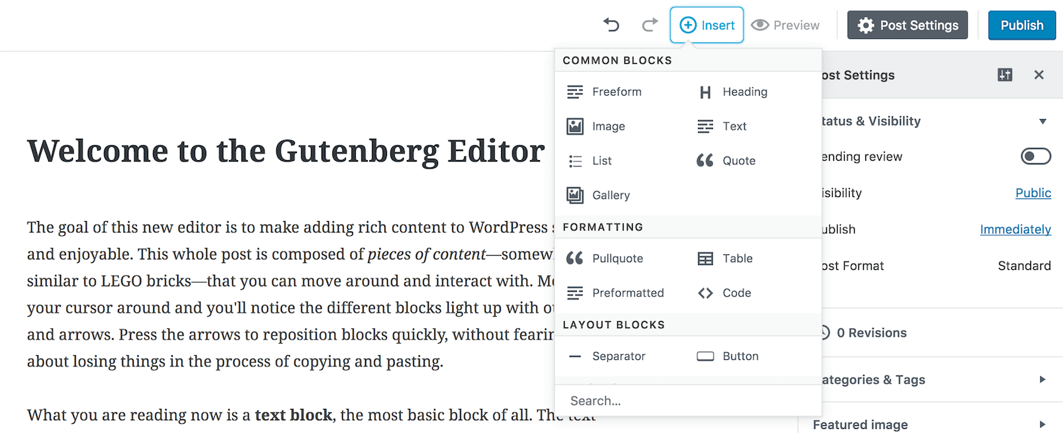 Gutenberg WordPress Editor and WordPress 5.0 - Plesk