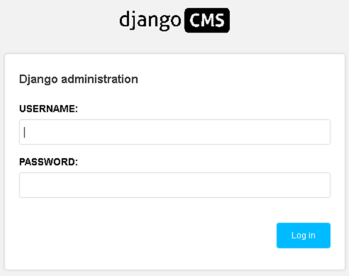 Plesk + django hosting - screenshot 5 - django cms admin login