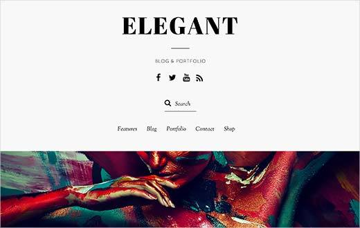 Elegant - responsive WordPress theme