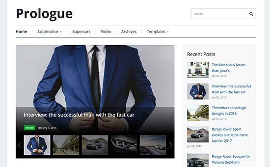 Prologue WP theme