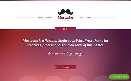 Mustache WP theme
