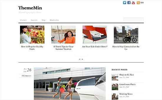 ThemeMin - Responsive WordPress Theme