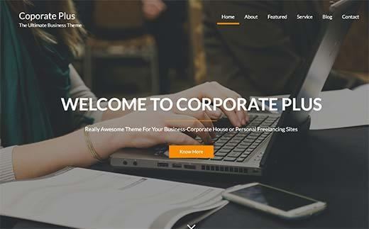 Corporate Plus - responsive WordPress Theme