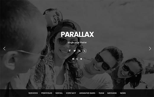 Parallax - Responsive WordPress Theme