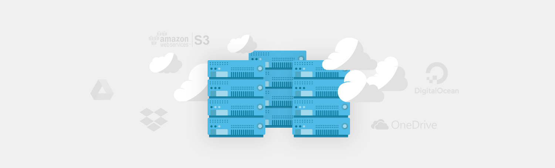 backup to multiple cloud storages - amazon/AWS, Google Cloud, DigitalOcean, Vultr, OVH, Azure