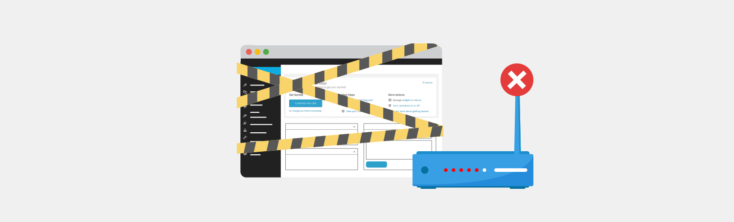 Check Your Connections - WordPress Site Down? - Plesk