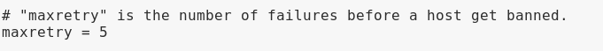 Maxretry parameter