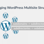 How to change WordPress Multisite Structure from subdomains to subdirectories and vice versa
