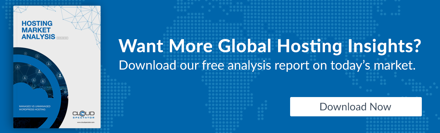 Global Hosting Insights - Cloud Spectatpor Analysys report