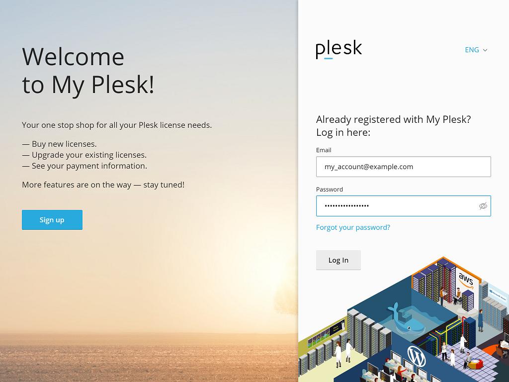 Plesk Self-Care Portal