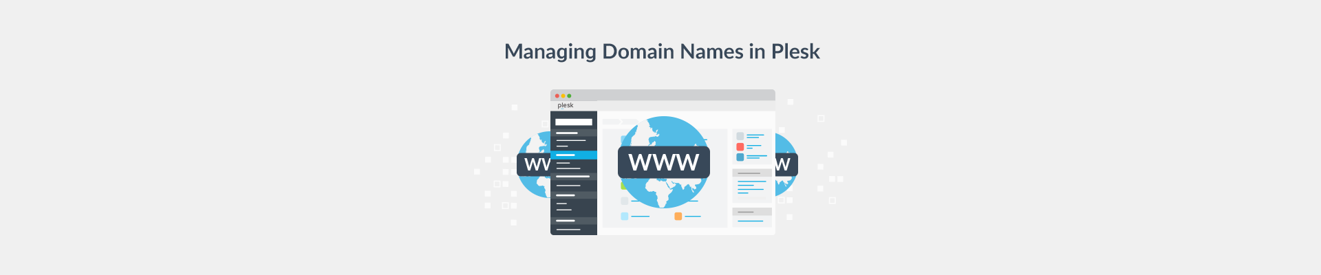 Managing Domain Names in Plesk
