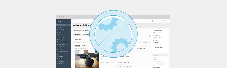 Server-side restrictions for Plesk Admins