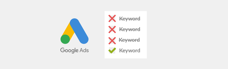 too broad keywords and negative keywords list
