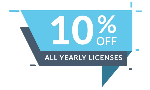 10% Off All Yearly Licenses