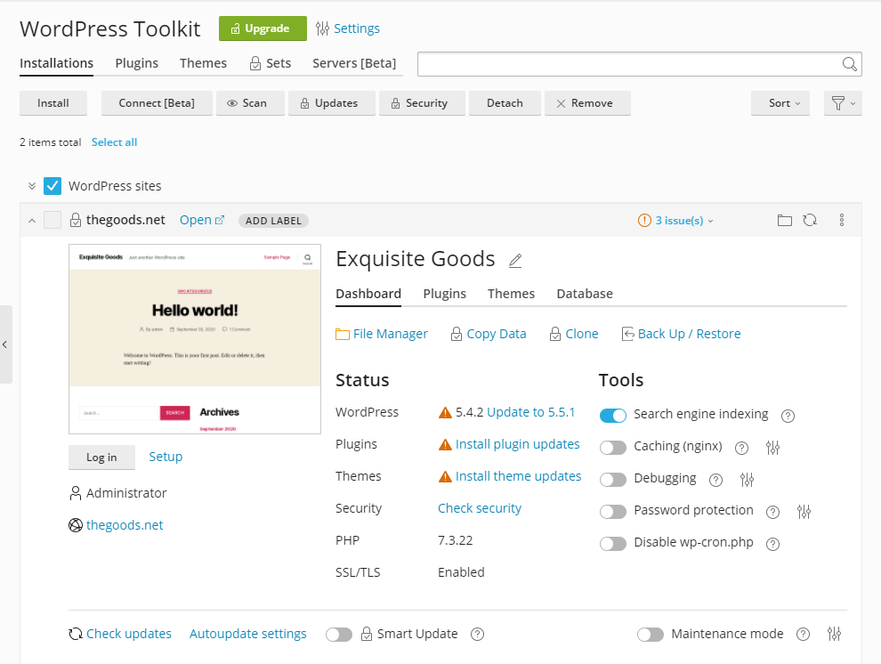 WordPress Toolkit Lite update - The Plesk WordPress Toolkit 5.0 release - Plesk 2